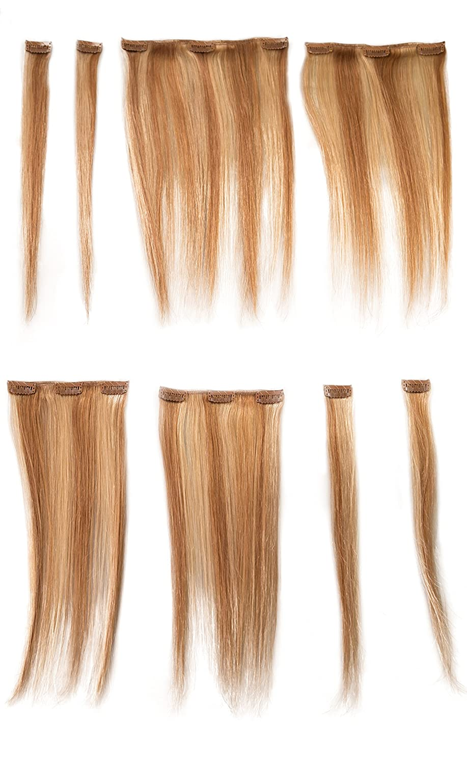 Donna Bella Full Head Human Clip-In Hair Extensions