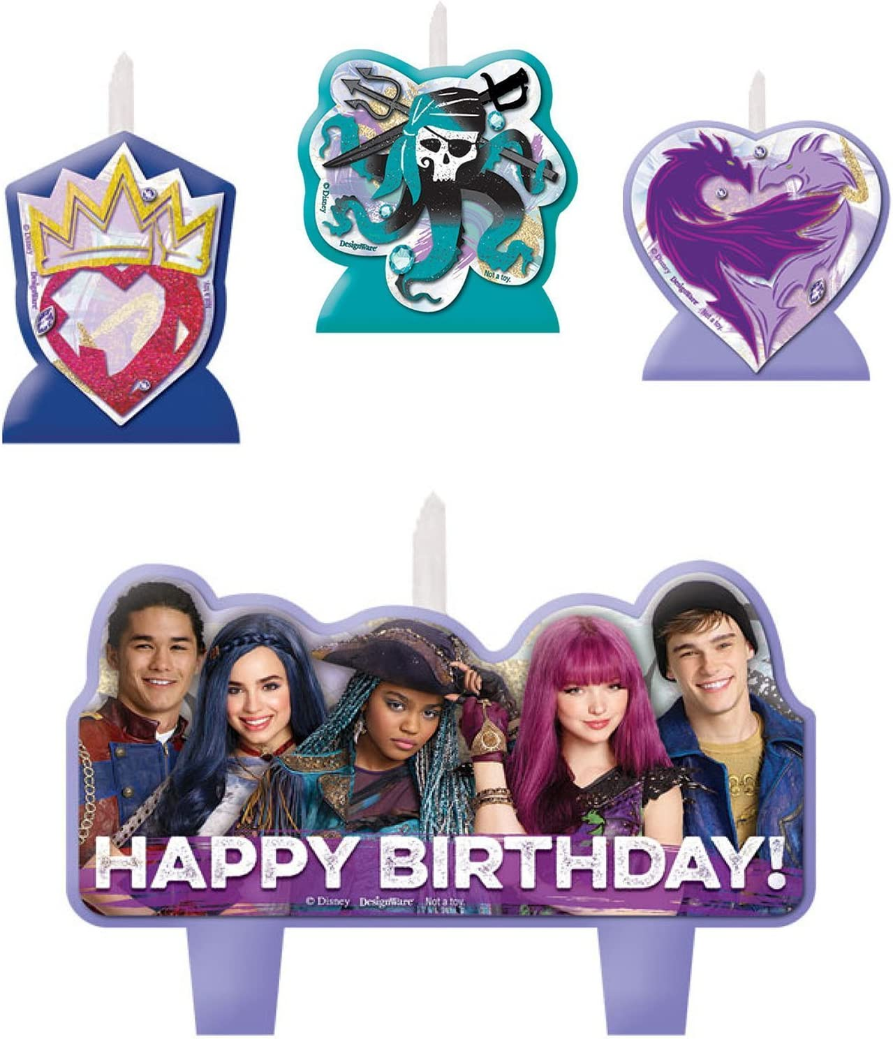 Amazon.com: Disney Descendants 2 Vela de cumpleaños set ...