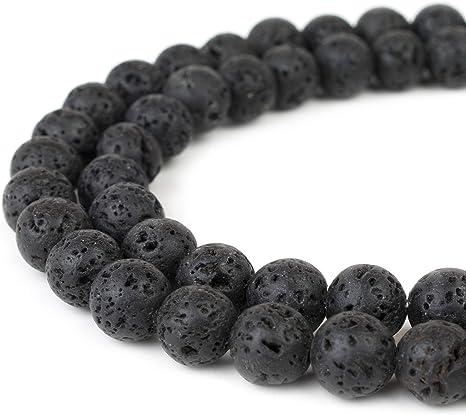 "Natural Black Volcanic Lava Gemstone Round Beads 15.5/"" 8mm 10mm 12mm 14mm New////"
