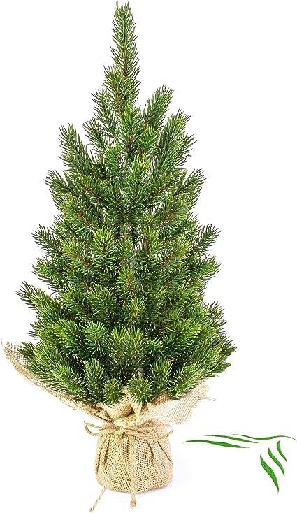 45cm Sapin de No/ël Artificiel 65 Branches artplants.de Petit Arbre de No/ël Artificiel Reykjavik dans Son Sac Marron /Ø 20cm enneig/é