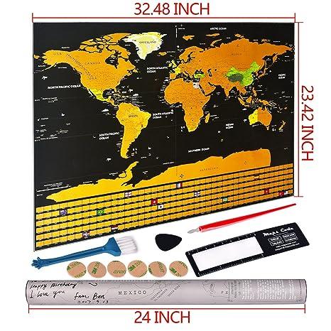 Scratch Le Carte Du Monde Gratter Dtails Cartographiques Gographie Mondiale Scrape Off World Map