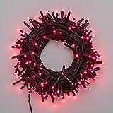 Catena 13,1 m, 180 miniled rossi, con memory controller, cavo verde, addobbi natalizi, catene luci per albero di Natale, decorazione luminosa