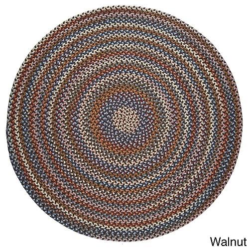 Rhody Rug Augusta Round Braided Wool Rug 8 x 8 Walnut