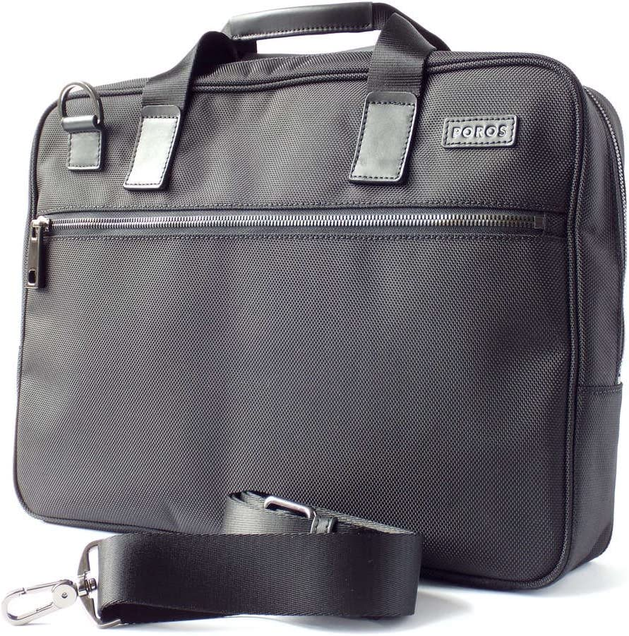 Poros Black Ballistic Nylon Charging Slim Briefcase Apple 30pin Alder