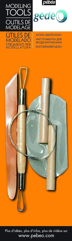Gedeo Pebeo Utensilios para modelar arcilla (de madera y metal) 766305