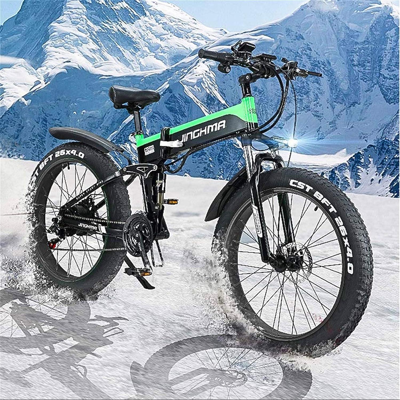 Alta velocidad Eléctrica de bicicletas de montaña, bicicletas de nieve 4.0 Big Fat Tire / 13Ah Batería de litio 48V500W Soft Tail bicicleta eléctrica, Equipado con pantalla LEC y faros de LED