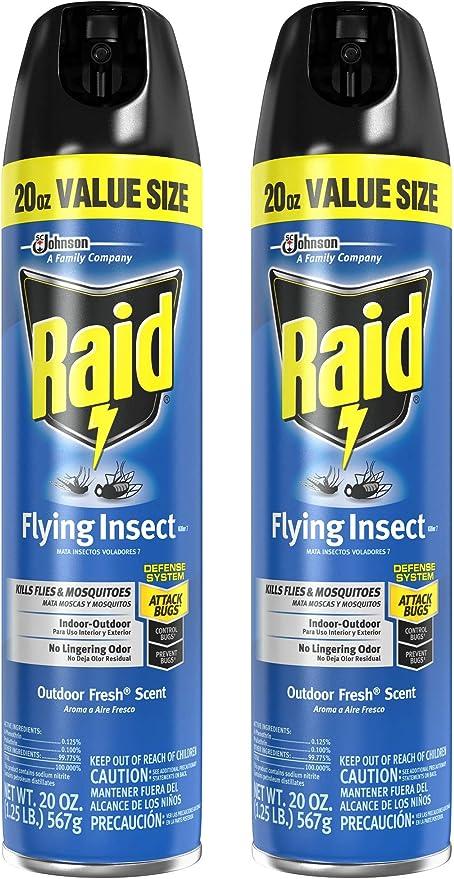Amazon.com: Raid Matamoscas volador de insectos, 20 onzas ...