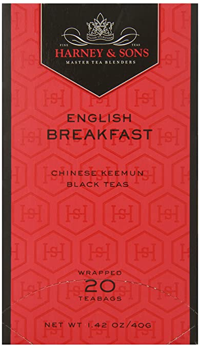 Harney & Sons Black Tea, English Breakfast, 20 Tea Bags