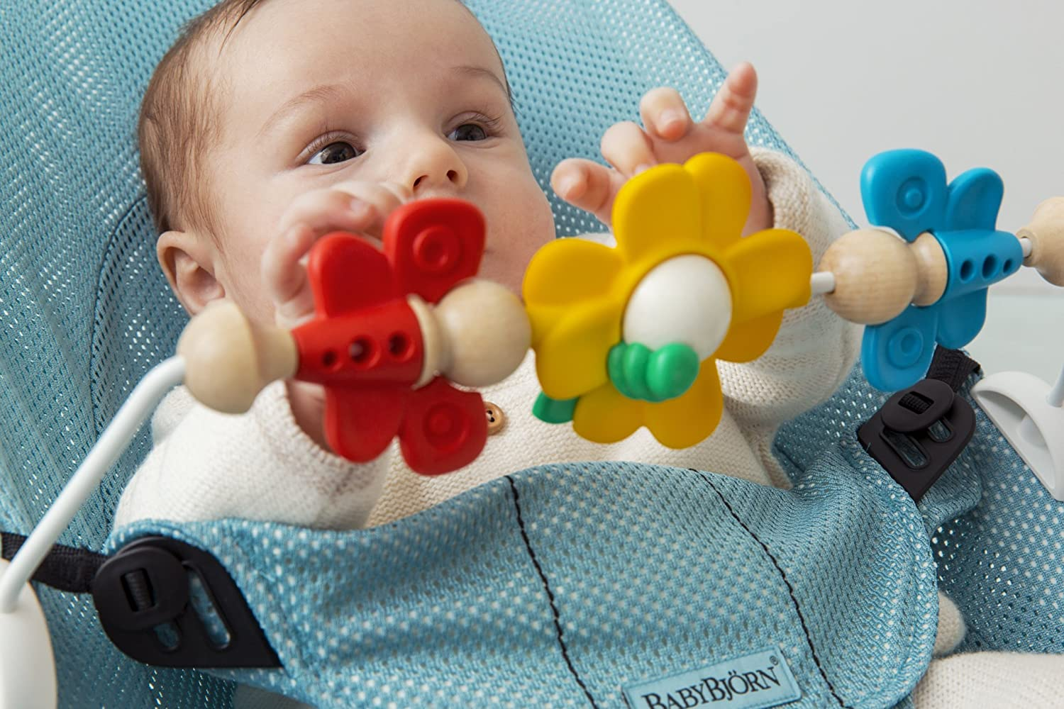 Free Shipping! BabyBjorn Baby Bjorn Wooden Toy for Baby Bouncer Googly Eyes