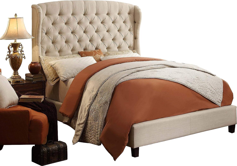 Rosevera Ralls Platform Bed, Twin, Beige