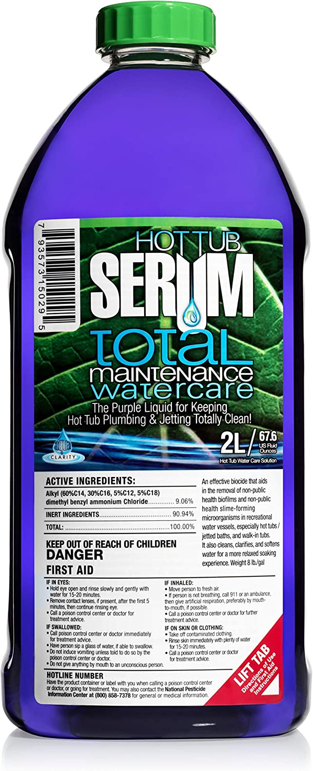 Hot Tub Serum Total Maintenance Hot Tub Conditioner and Clarifier– 24 Weekly Doses