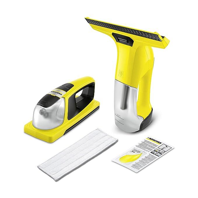 Kärcher Window Vac WV 6 y Window Cleaner KV 4 - Pack de limpiadora a batería (aspirador limpiacristales) y fregador a batería con vibración para ...
