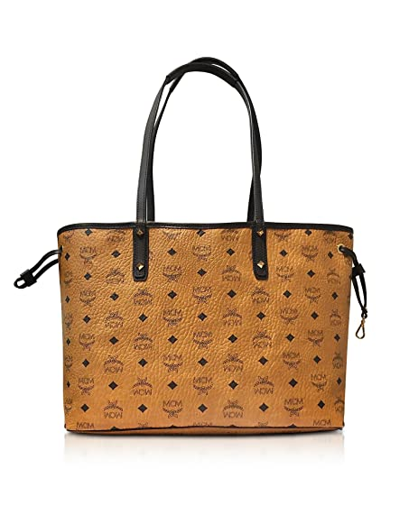 attraktive Designs verkauf uk 100% authentifiziert MCM DAMEN MWP6AVI38CO001 BRAUN KUNSTLEDER TOTE: Amazon.de ...