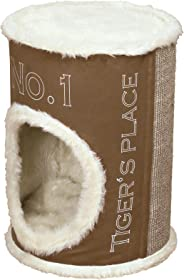 Trixie Pet Products Adamo Cat Tower, Brown/Cream