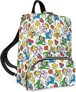 Controller Gear Super Mario 3D World Catsuit - Small Backpack for Women, Girl's Cute Mini Bookbag Travel Bag for Nintendo Switch Console & Accessories - Nintendo Switch