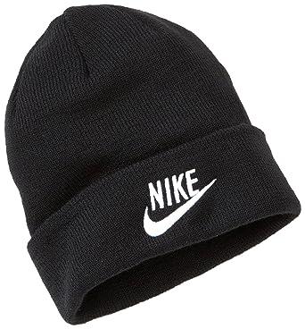 2ba20d837945b Nike Childrens Winter Beanie Hat Black 287266-010 M L  Amazon.co.uk   Clothing
