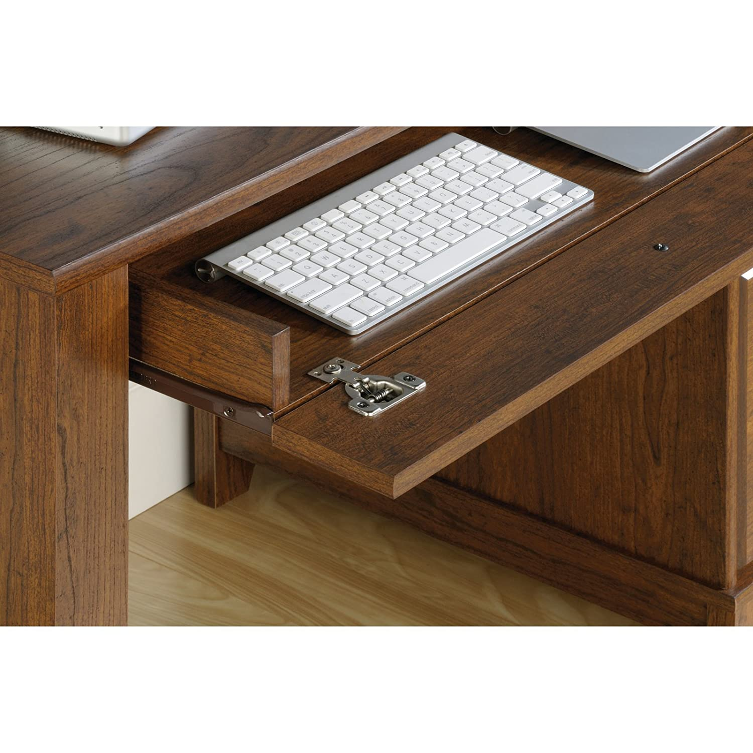 Amazon Sauder Camarin puter Desk in Jamocha Wood fice