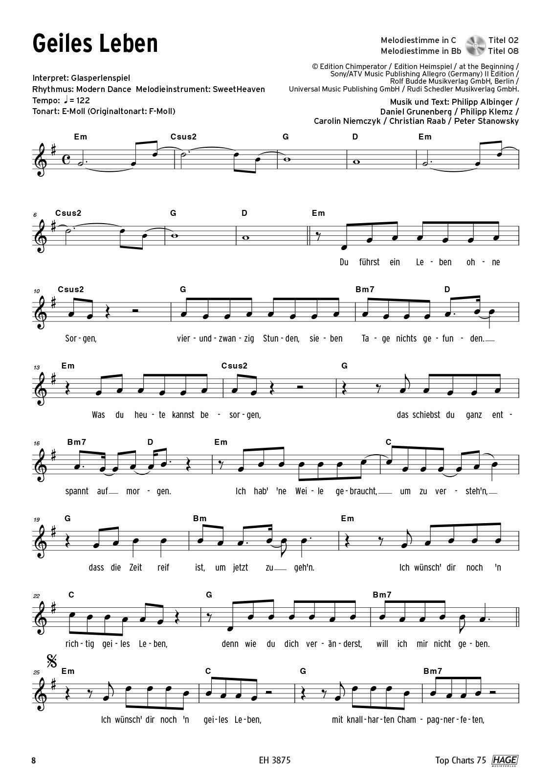 Songtext geiles leben