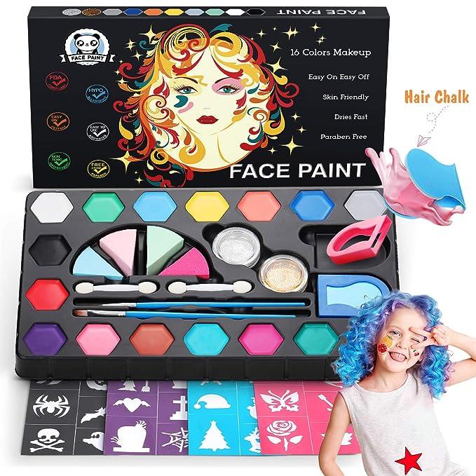 Pinturas de cara no Tóxicos para niños