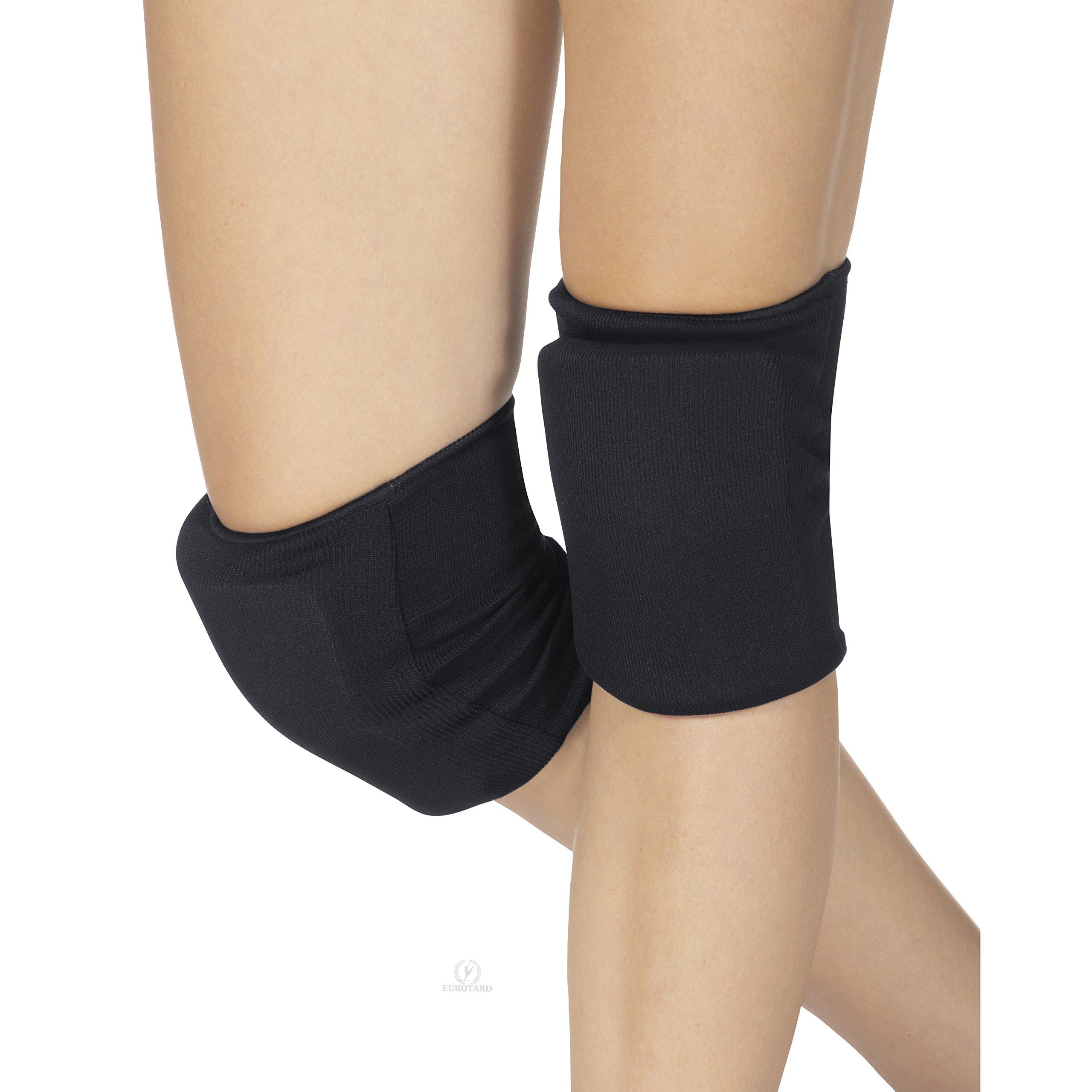 Eurotard Knee Pads (Medium, Black) by Eurotard