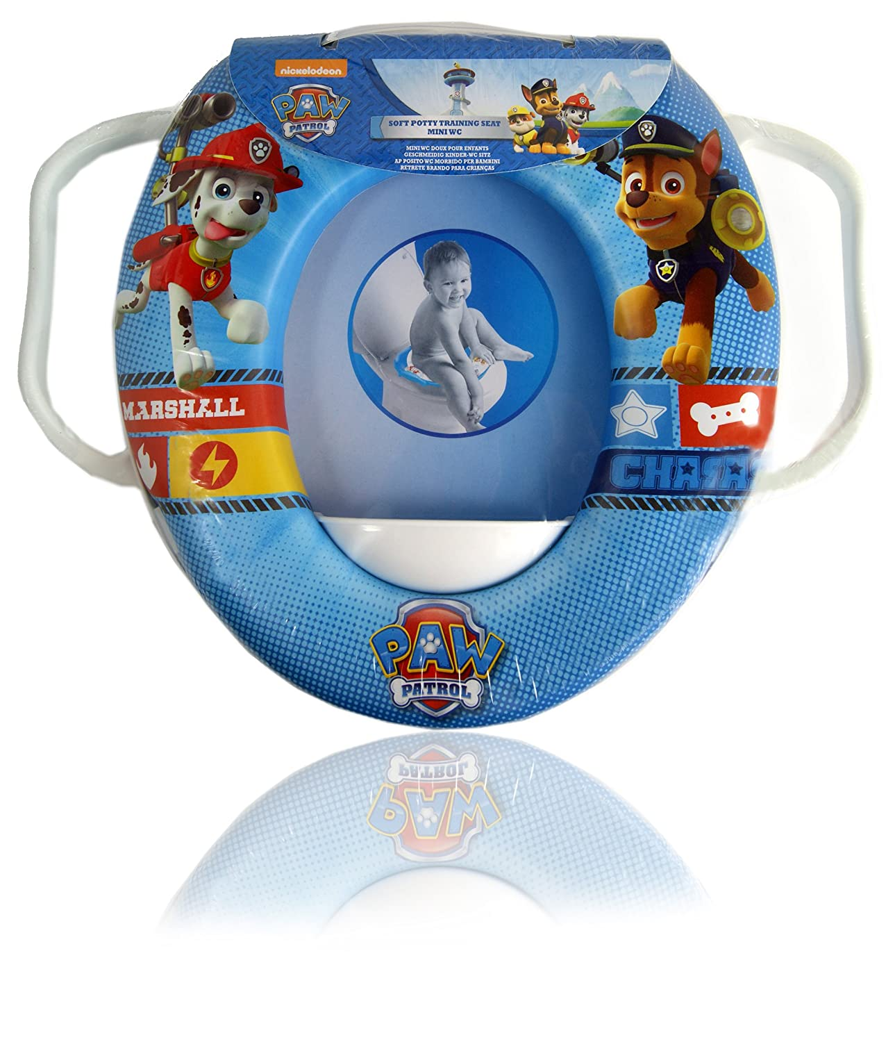 Baby Toilet Seat Children's Paw Patrol Soft Padded Toilet Seat (Training Seat)with Handle nickelodeon 06275