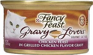 Fancy Feast Gravy Lovers Chicken Feast in Grilled Chicken Flavor Gravy Cat Food, 3 oz, 12 Cans