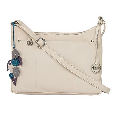 108746eb6f3b Klasse Women s Leather Casual College Cross Body Sling Bag(Beige ...