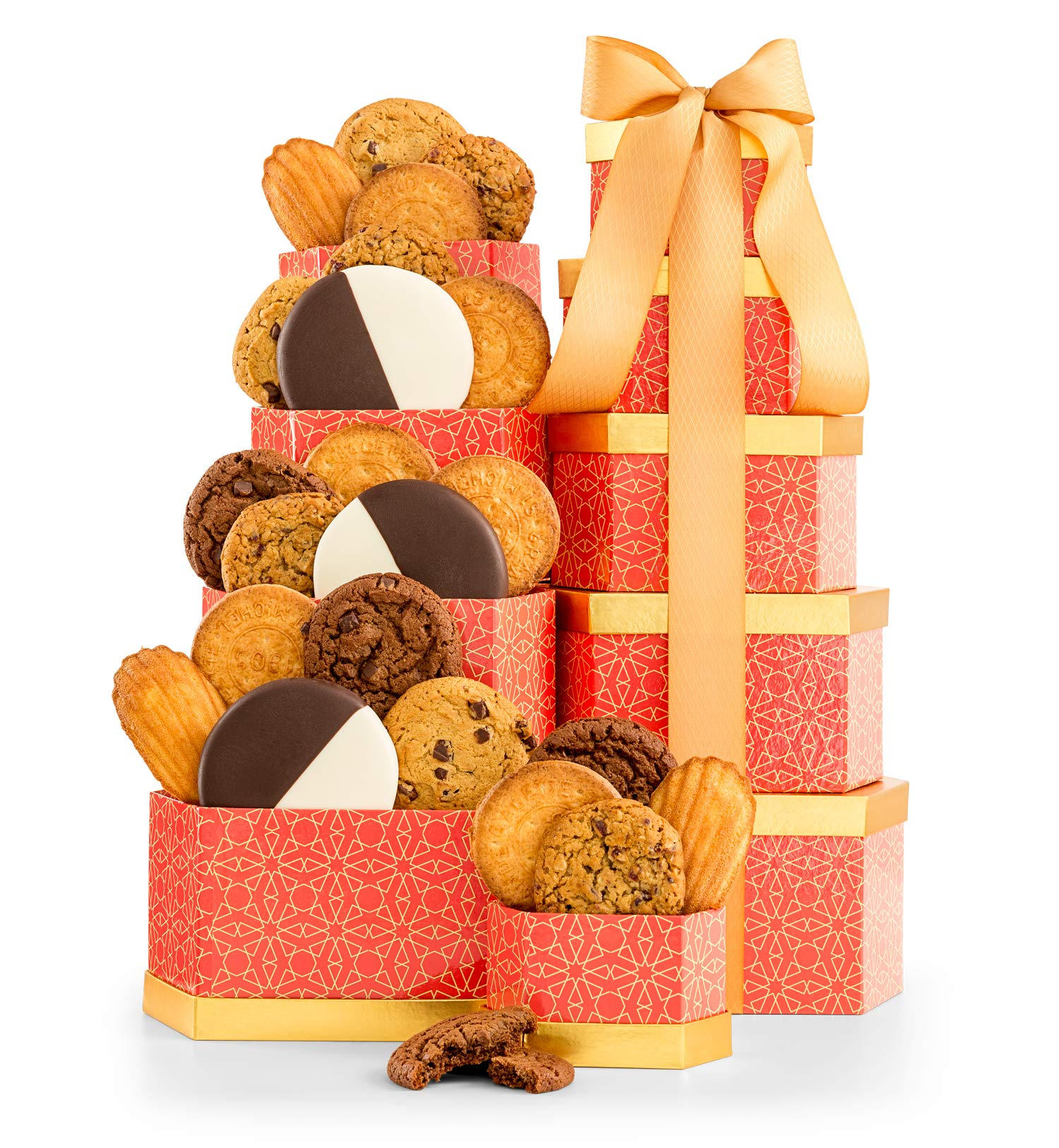 GiftTree Cookie Classics Tower | Chocolate Brownie, Cranberry Oatmeal, Chocolate Chunk & More | Five (5) Box Tower | Sweet Gift For Someone Special