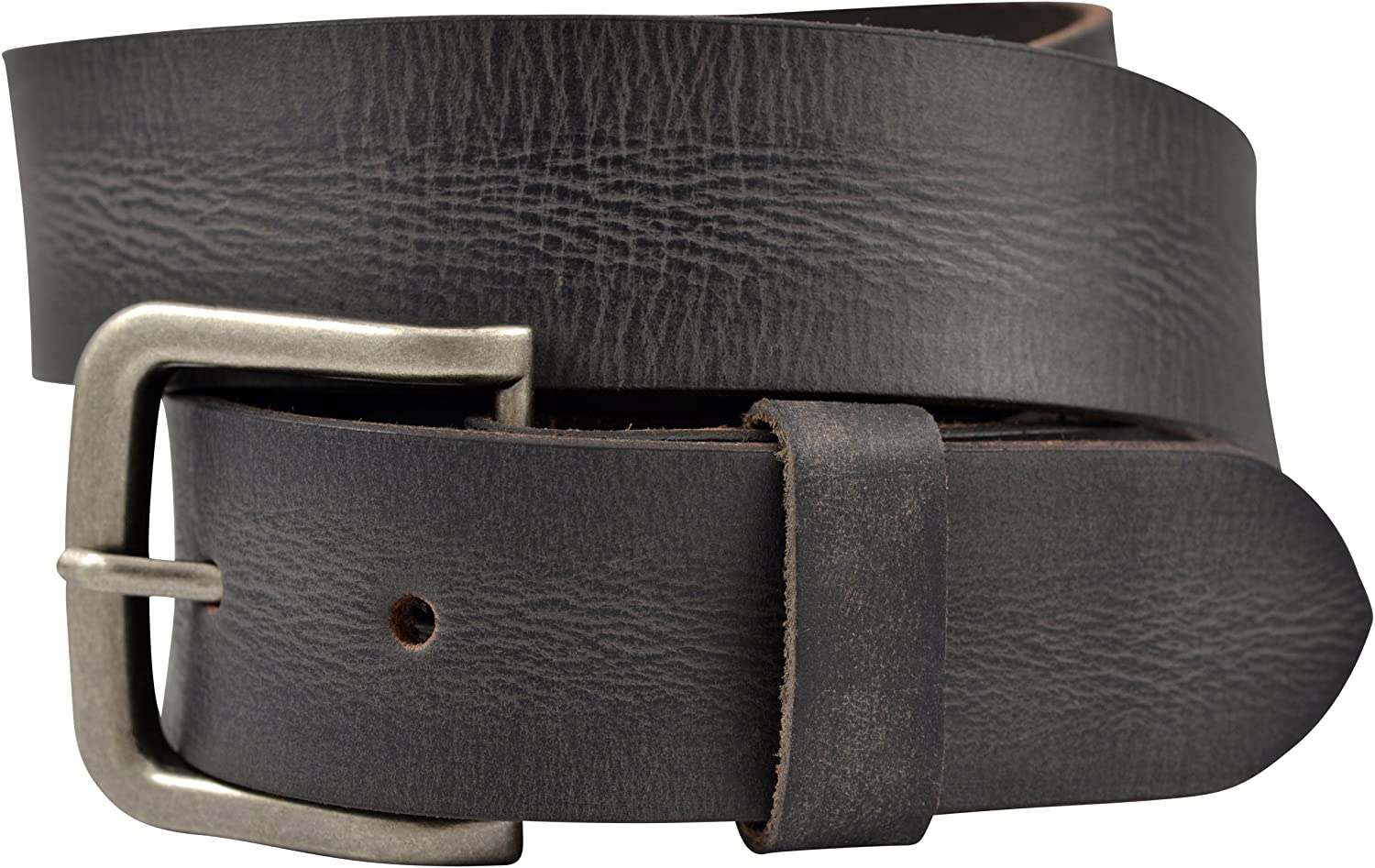 Black Vintage Full Grain Buffalo Solid Leather Belt TBS4010-001