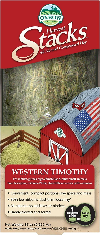 Oxbow HARVEST STACKS Western Timothy Little Animal pet Food Gerbil Hamster 992 g