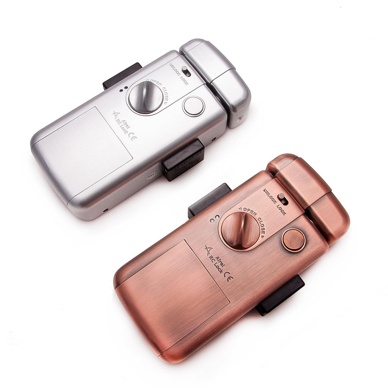CERRADURA electronica INTELIGENTE, máxima SEGURIDAD e INVISIBLE con 4 mandos. Color plata. Fabricada por SELOCKEY.: Amazon.es: Bricolaje y herramientas