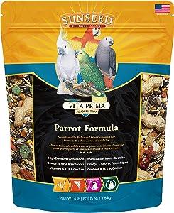 Sunseed 49050 Vita Prima Sunscription Parrot Food - High-Variety Formula, 4 LBS