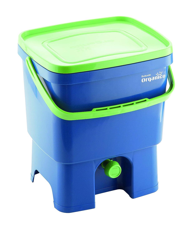 Bokashi 19750069 - Compostador orgánico y activador, Azul/Verde, 16l