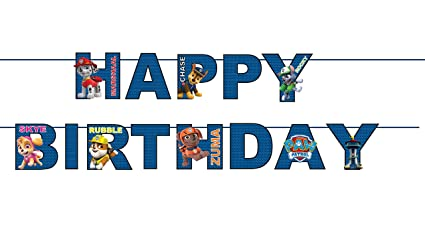 PARTY PROPZ PAW Patrol Happy Birthday Bunting Item Party