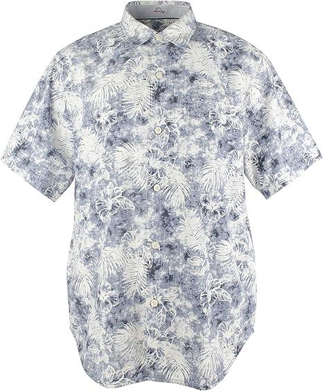 Tommy Bahama Island Zone The Mirragio - Camisa de campamento de mezcla de seda - Gris - Medium: Amazon.es: Ropa y accesorios