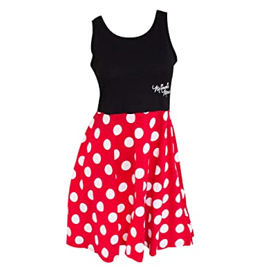 7919fc562 Amazon.com: Minnie Mouse Women's and Red Polka Dot Dress: Clothing