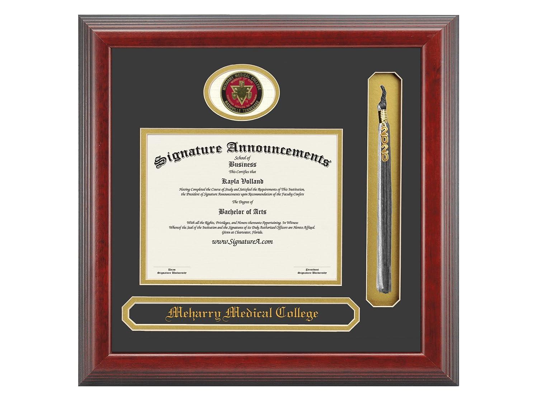 Signature Announcements Meharry-Medical-College Undergraduate 23 x 24 Name /& Tassel Graduation Diploma Frame Cherry Sculpted Foil Seal