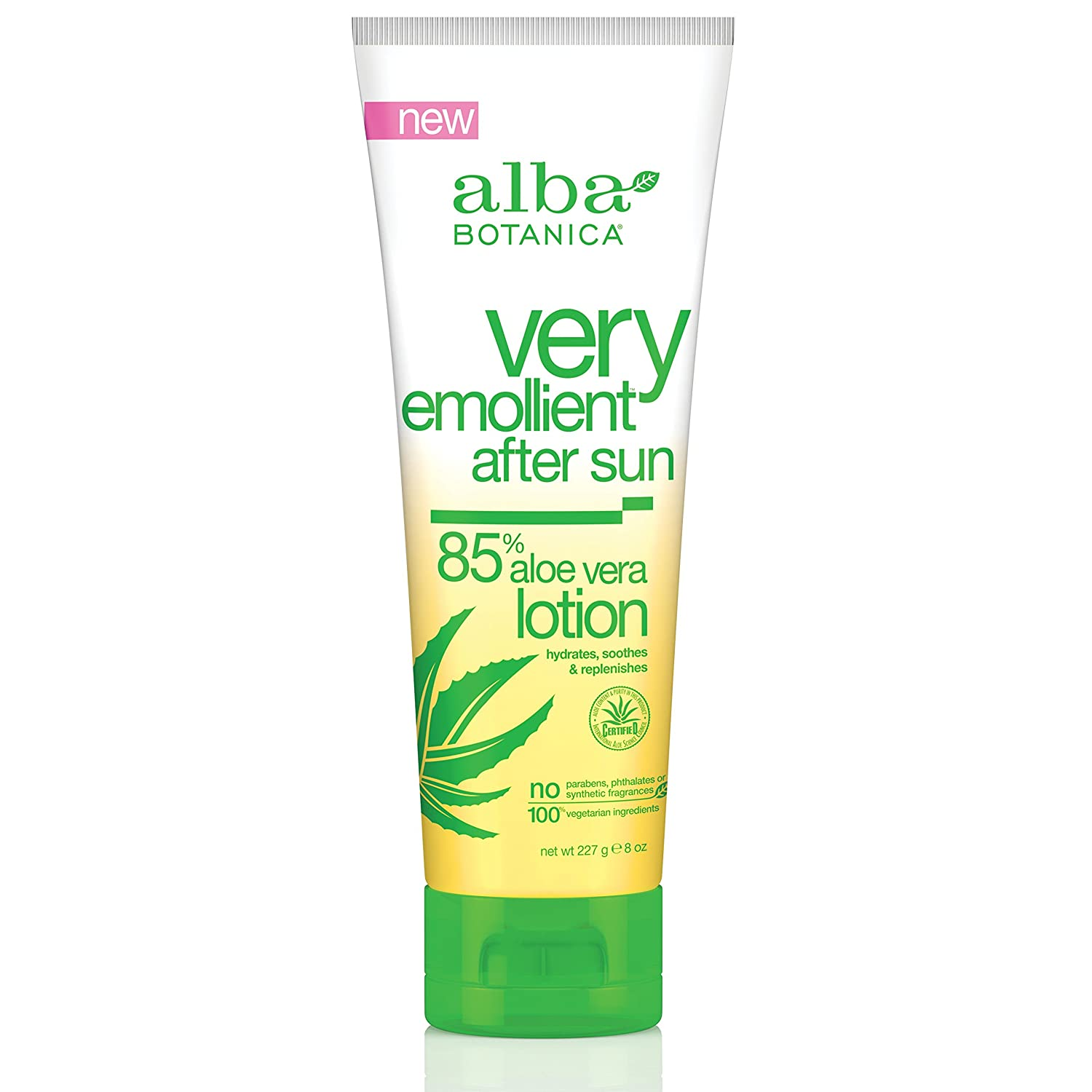 Alba Botanica Very Emollient After Sun Lotion - 85% Aloe Vera - 8 oz AL00402