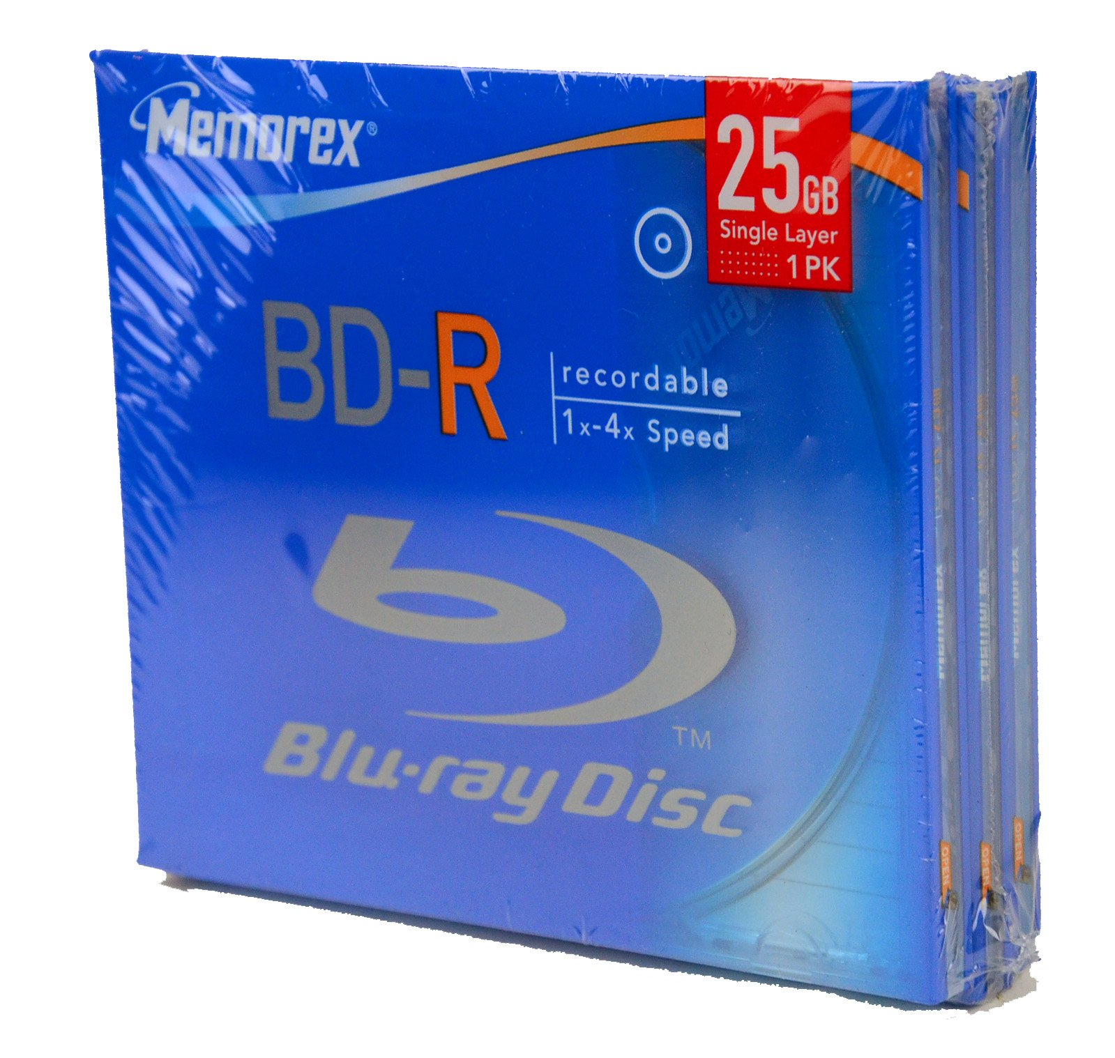 Memorex Bd-r 4X, Single Jewel Case 3 Pack