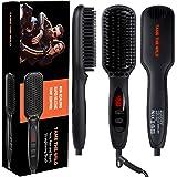 Tame's Beard Straightener for Men - Anti-Scald Beard Straightening Comb - Heated Hair Straightener for Men - 12 Temp Settings