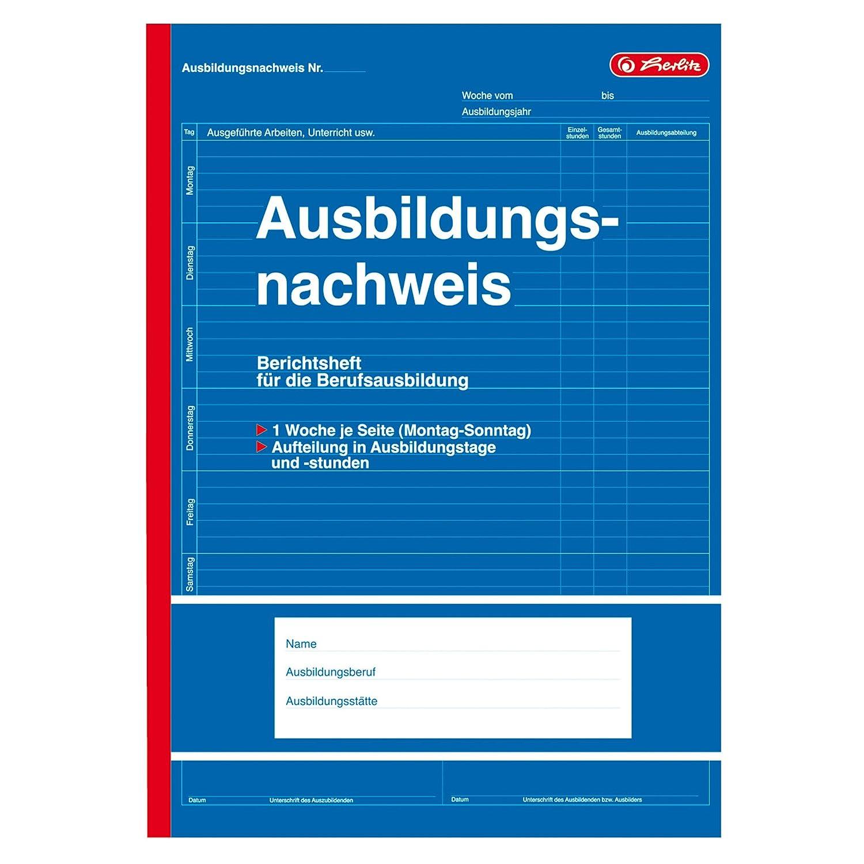 Herlitz 840702 Berichtsheft für Berufsausbildung, A4, 28 Blatt, 5
