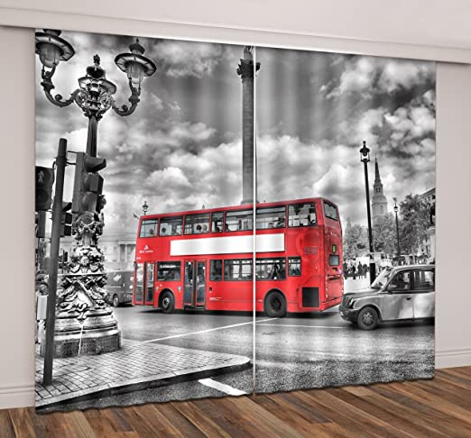3D Bridge Leaf Blockout Photo Curtain Print Curtains Drapes Fabric Window US