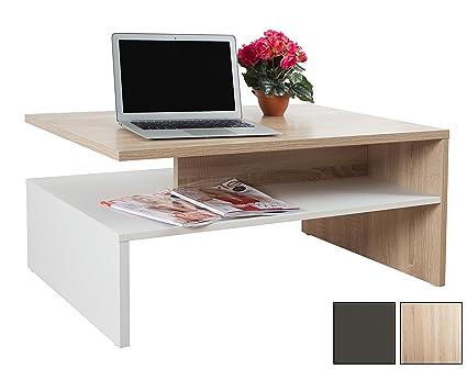 RICOO Tavolino basso da divano da soggiorno Design WM080-W-ES Tavolo ...