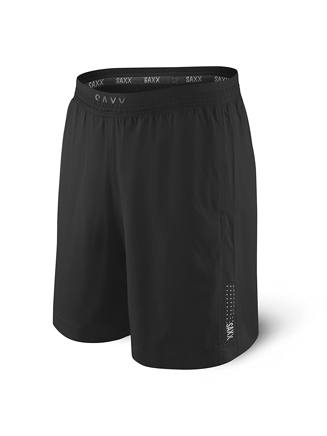 Saxx Underwear Men's Kinetic 2N1 Run Long 7 Athletic Shorts with Ballpark Pouch SXRL27