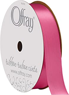 """product image for Berwick Offray 063552 5/8"""" Wide Single Face Satin Ribbon, Hot Pink, 6 Yds"""