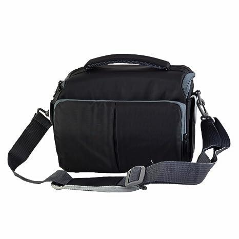 Cámara Bolsa bandolera de lona para Nikon D3400 D3100 D3200 D3300 D5300 D5600 D7200 D7500 Canon EOS 1300d 1200d 760d 100d etc.: Amazon.es: Electrónica