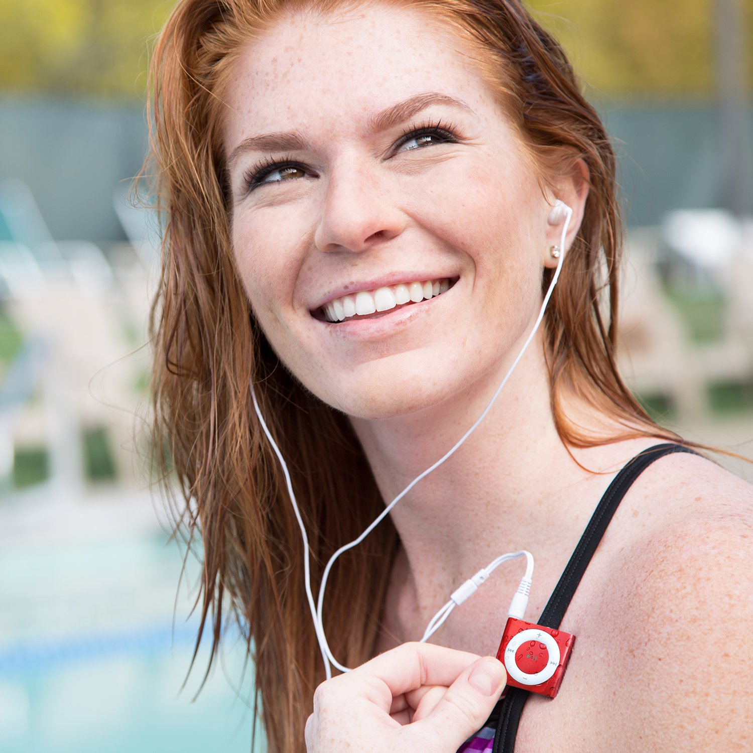 Underwater Audio Waterproof iPod Swimbuds Bundle (Red) by Underwater Audio
