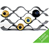Baridoo Wine Rack. Stackable Countertop Wine Bottle Stand. 12 Bottles Win e Holder Organizer for Table Top, Pantry, Cabinet,