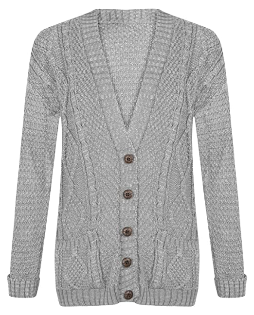 b279883b5c Image Unavailable. Image not available for. Color  Ditzy Fashion Women s  Boyfriend Grand Dad Cardigan Long Sleeve Knitted Button ...