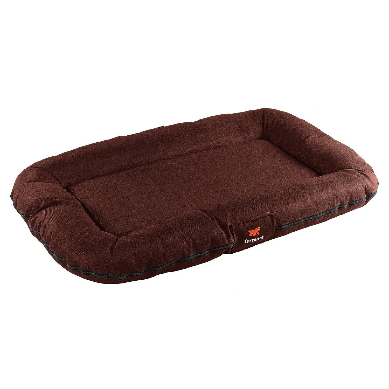 Brown 80 x 60 x 11cm Brown 80 x 60 x 11cm Ferplast Oscar 80 Waterproof Pet Bed (80 x 60 x 11cm) (Brown)